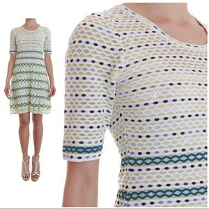M by Missoni Multicolor Knit Dress Size 38